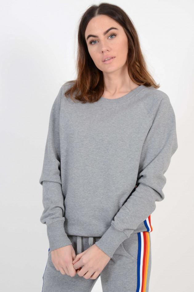 Roqa Sweater mit Seitenstreifen in Grau