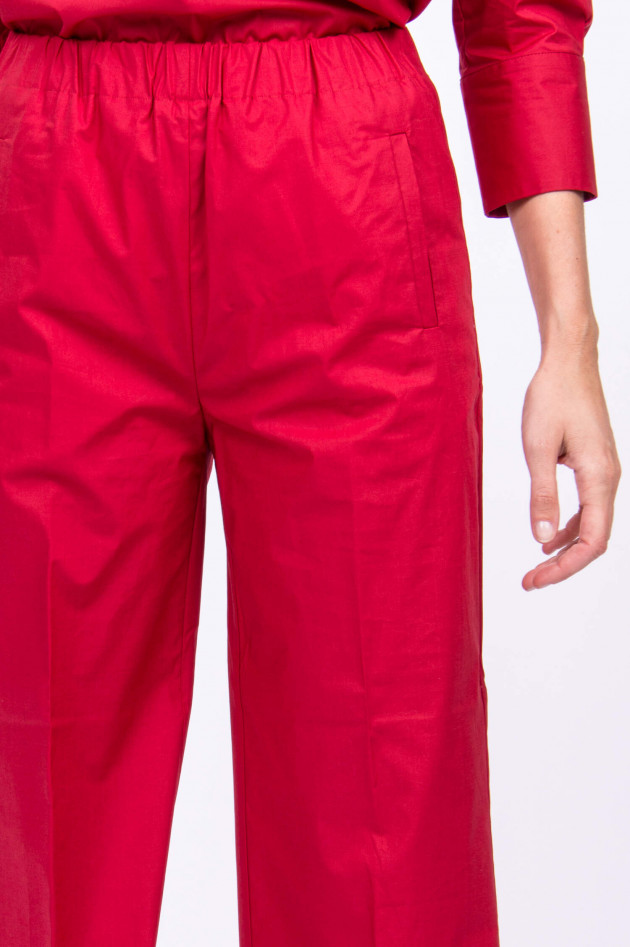 Rosso 35 Hose aus Baumwollstretch in Kirschrot