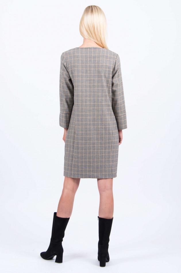 Rosso 35 Glencheck-Kleid in Grau/Schwarz/Cognac - 3909138