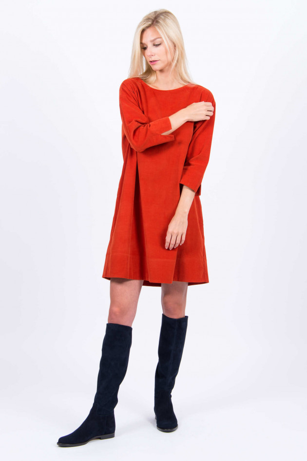 Rosso 35 Feincord-Kleid in Orange - 3909150