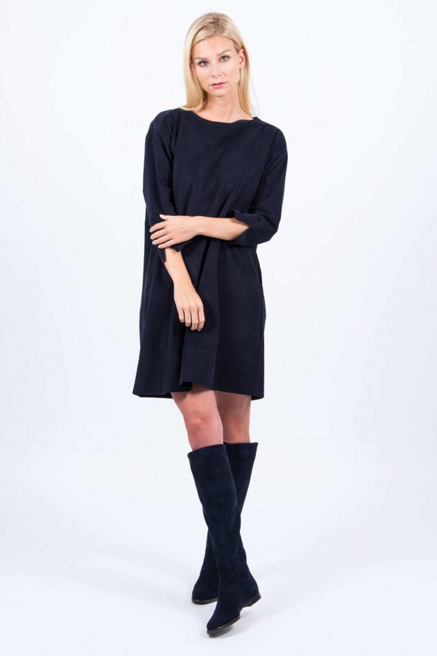 Rosso 35 Feincord-Kleid in Navy