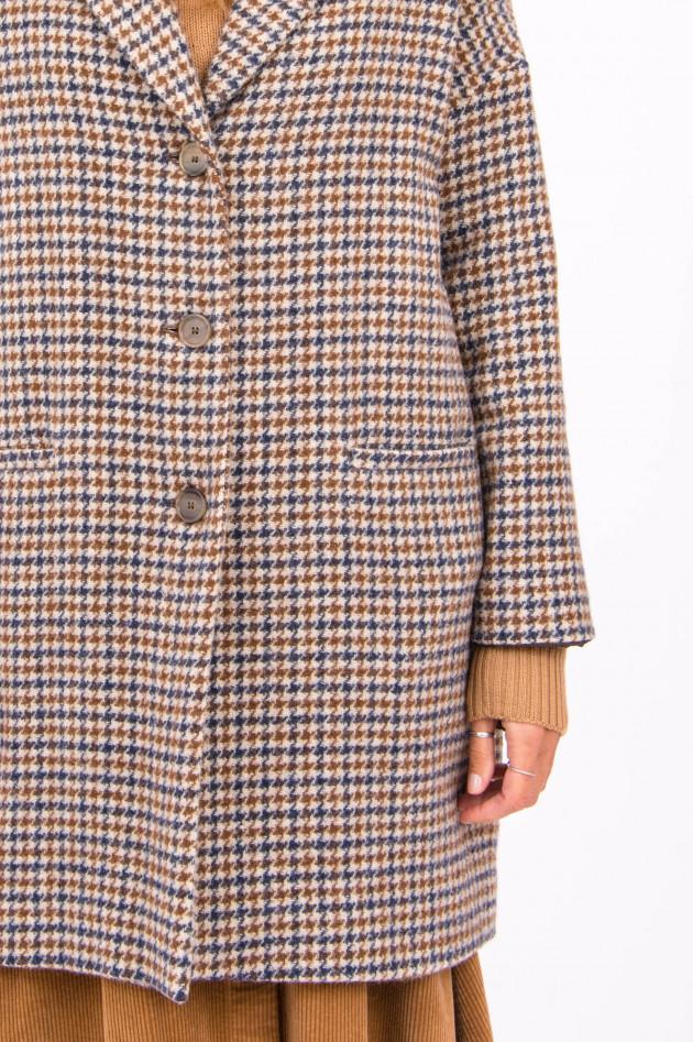 Rosso 35 Mantel DAKS in Braun/Blau gemustert