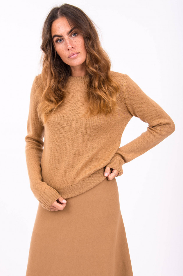 Rosso 35 Angenehm leichter Strickpullover in Camel
