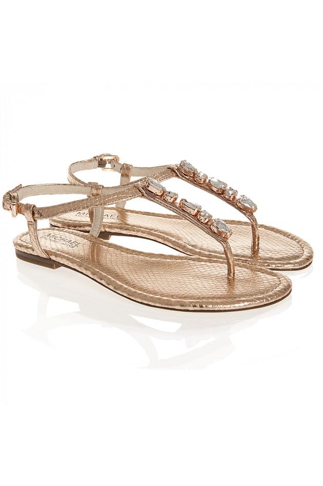 gr ner online shop michael kors sandale jayden in ros gold. Black Bedroom Furniture Sets. Home Design Ideas