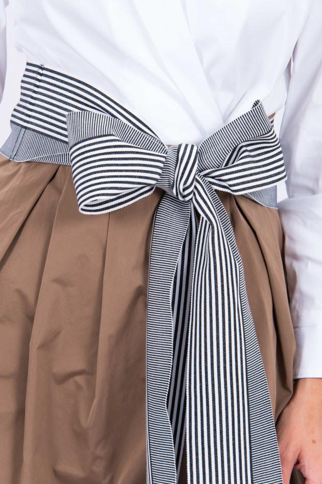 Sara Roka Bindegürtel mit Streifen in Schwarz/Weiß