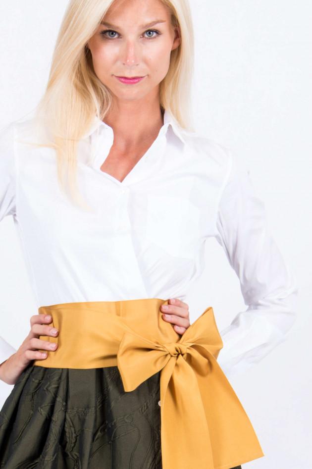 Sara Roka Kleid ELENA in Weiß/Oliv