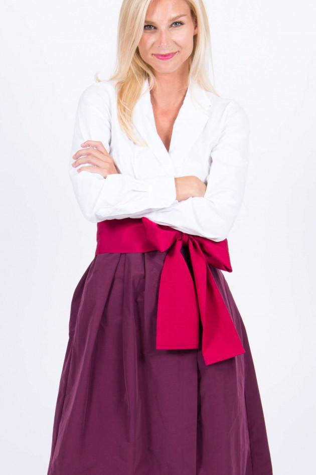Sara Roka Kleid MATTEA in Weiß/Brombeer