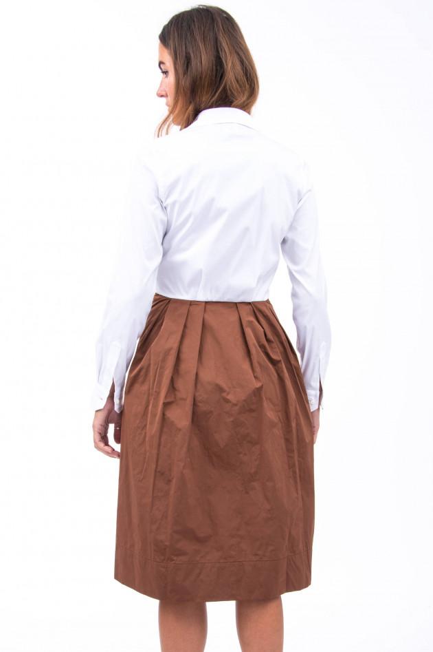 Sara Roka Kleid MATEA in Weiß/Tabak