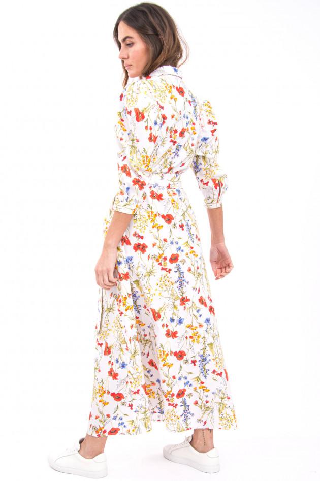 Sara Roka Blusenkleid mit Taillengürtel in Multicolor