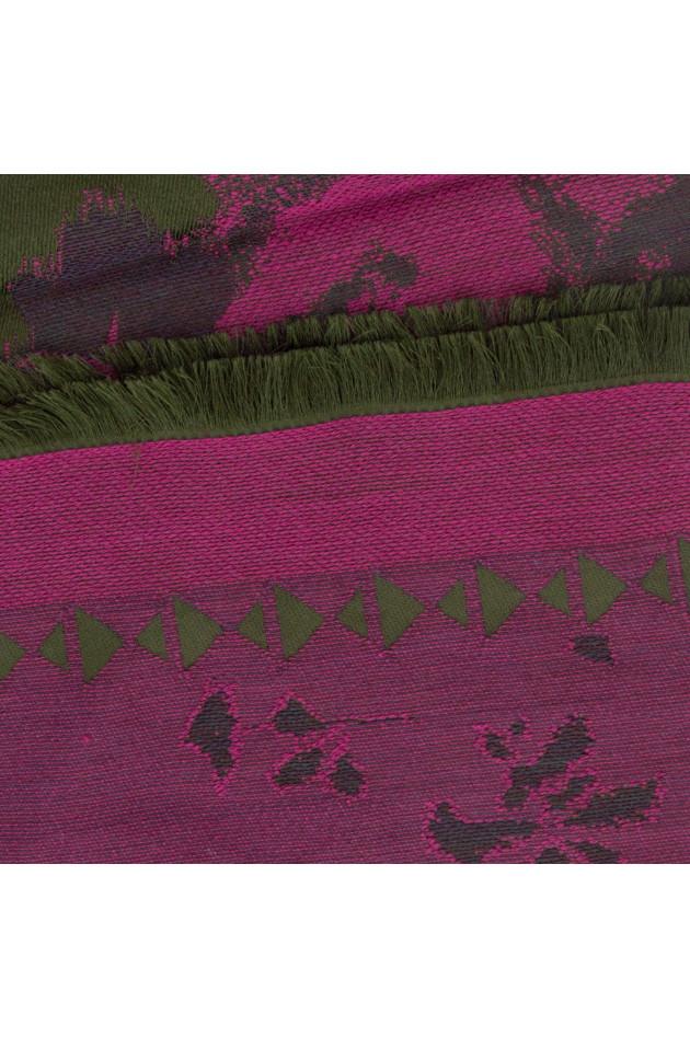 grün pink schal