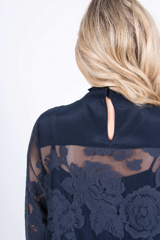 See by Chloé Spitzenbluse in Navy