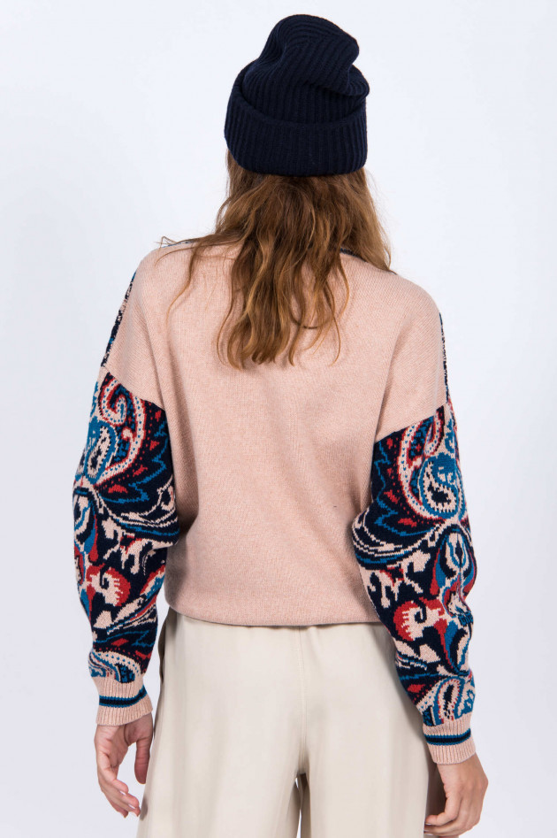 See by Chloé Strickpullover mit Paiselymuster in Rosé