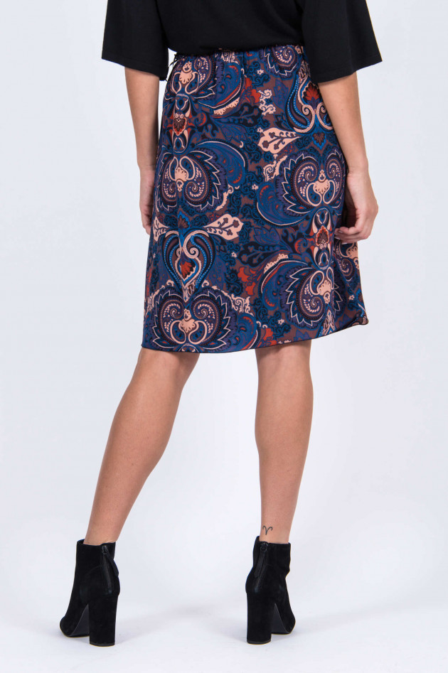 See by Chloé Seidenrock mit Paiselymuster in Blau/Braun