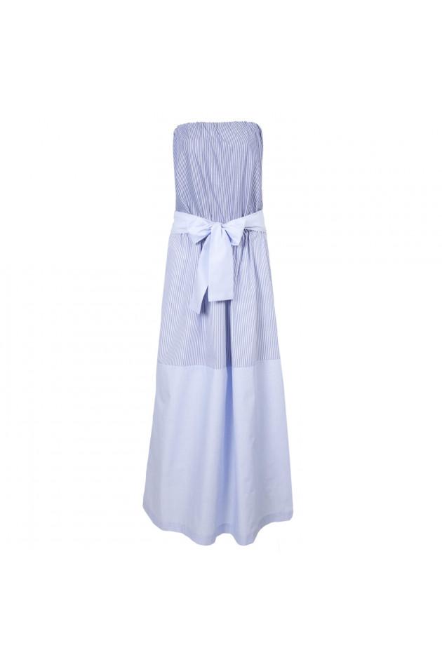 gr ner online shop semi couture kleid in blau wei gestreift. Black Bedroom Furniture Sets. Home Design Ideas