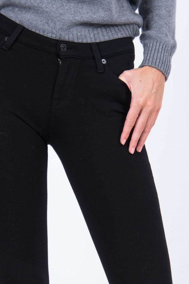 Seven for all Mankind Jeans THE SKINNY DOUBLE KNIT in Schwarz
