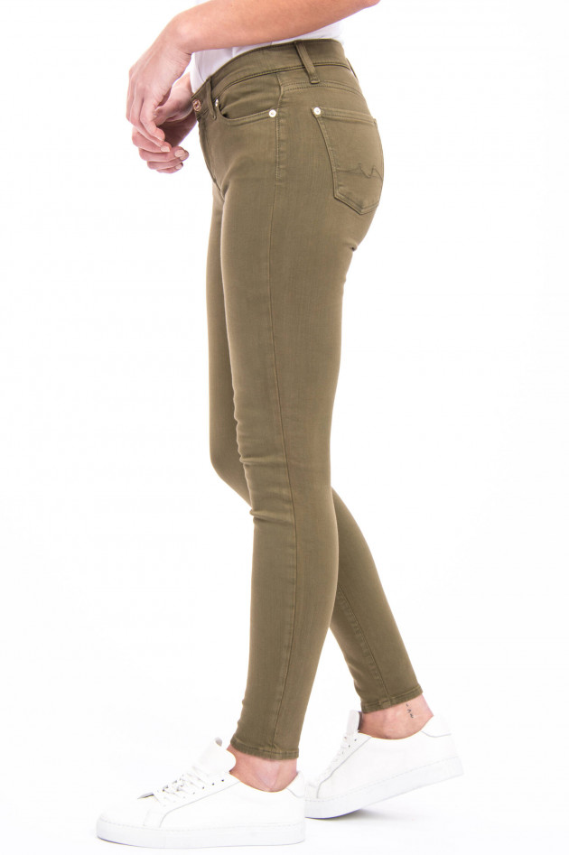 Seven for all Mankind Jeans THE SKINNY in Oliv