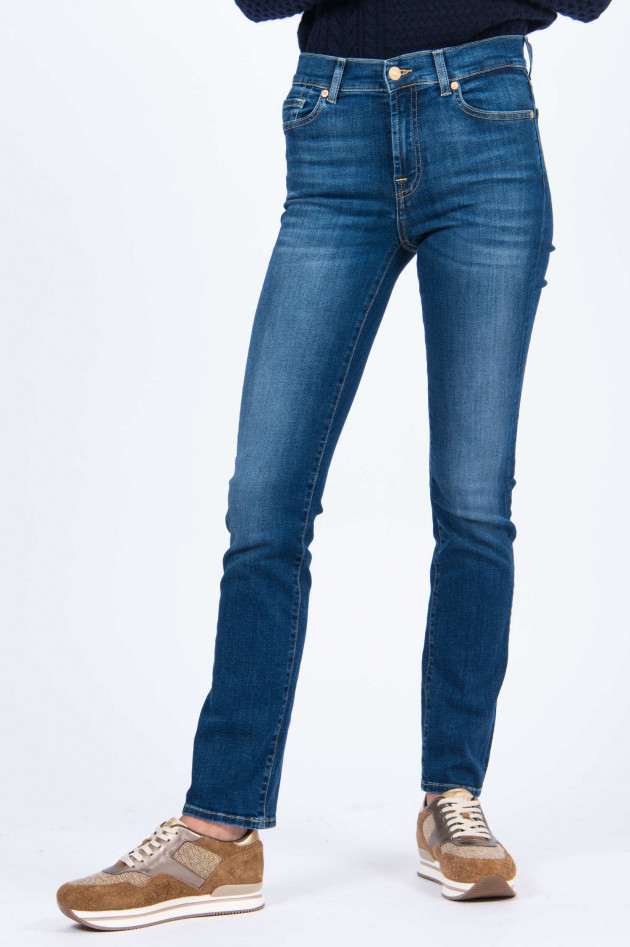 Seven for all Mankind Jeans THE STRAIGHT BAIR DUCHESS in Mittelblau