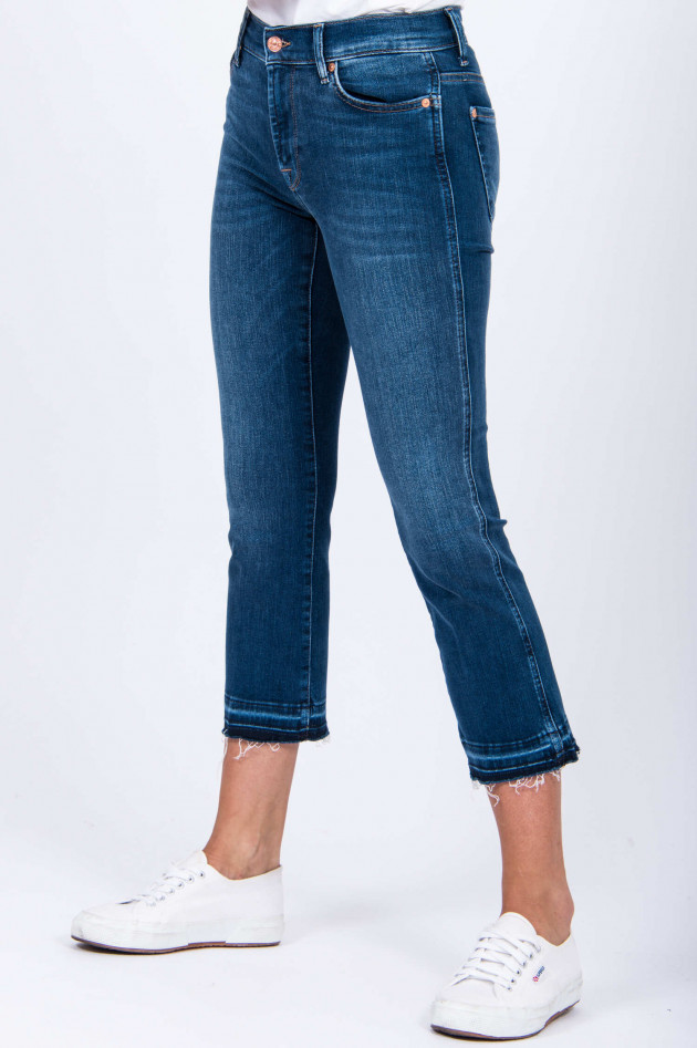 Seven for all Mankind Jeans CROPPED BOOT UNROLLED in Mittelblau