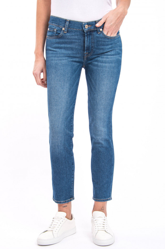 Seven for all Mankind Jeans ROXANNE ANKLE LUXE in Mittelblau