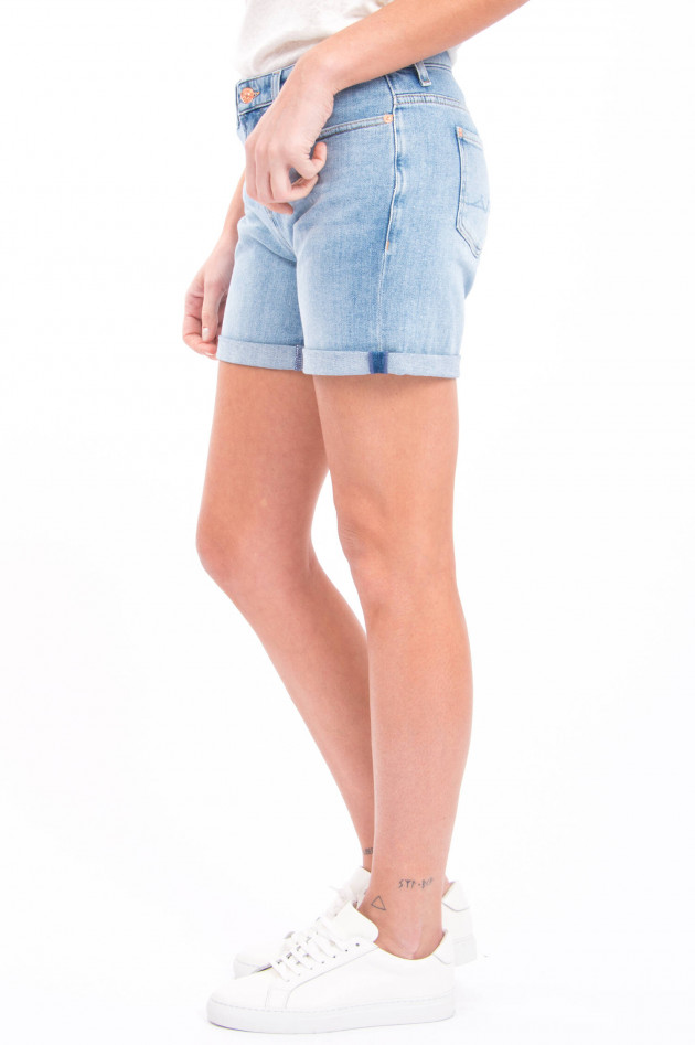 Seven for all Mankind Jeans-Short BOY SHORTS in Hellblau