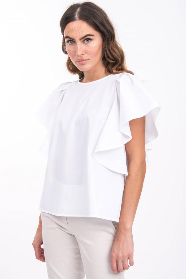 Sly Blusenshirt mit Rüschenärmel in Weiß