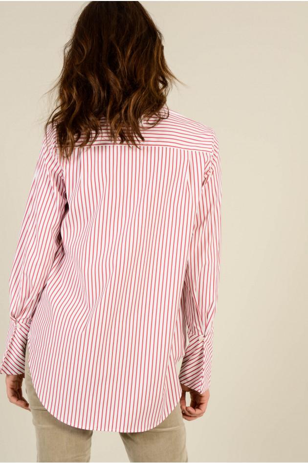 Soluzione Bluse in Rot/Weiß gestreift