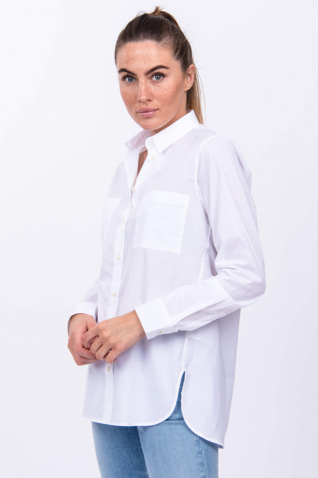 Soluzione Hemdbluse in Weiß