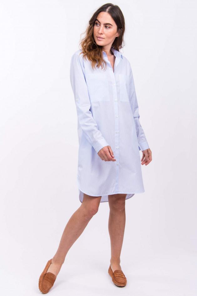Soluzione Hemdblusen-Kleid in Blau/Weiß gestreift | GRUENER.AT