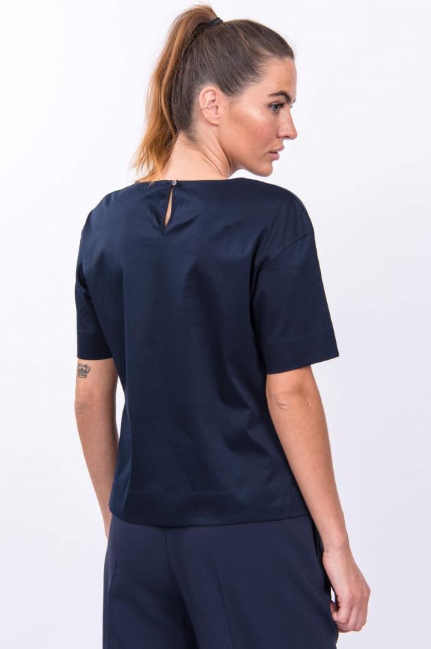 Soluzione Baumwoll-Shirt in Navy