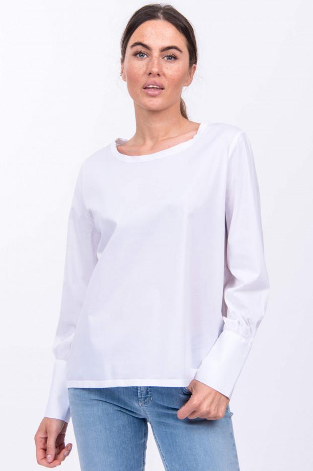 Soluzione Langarm-Blusenshirt in Weiß