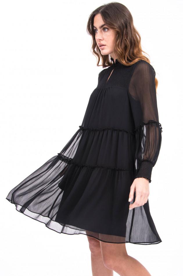 Steffen Schraut Kleid mit Rüscherln in Schwarz
