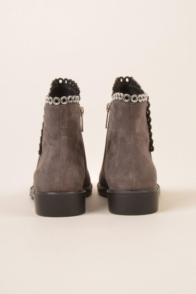 gr ner online shop steffen schraut stiefelette mit sen in grau. Black Bedroom Furniture Sets. Home Design Ideas