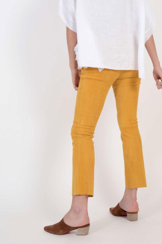 Stouls Lederhose in Gelb