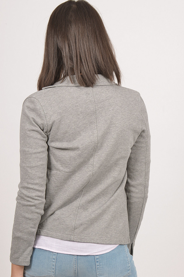 gr ner online shop sun68 jersey blazer in grau. Black Bedroom Furniture Sets. Home Design Ideas