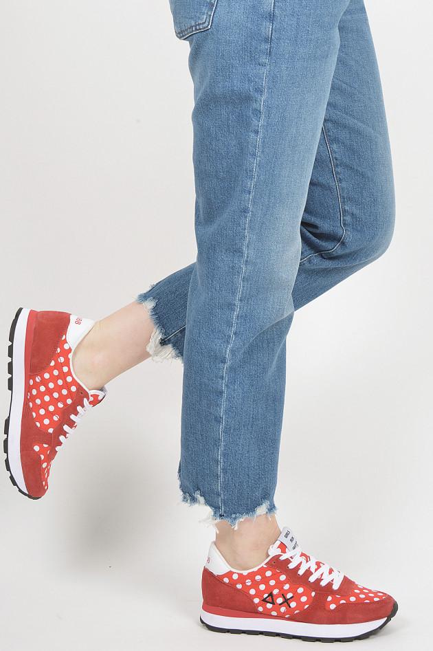 Sun68  Sneaker mit Pünktchen in Rot/Weiß