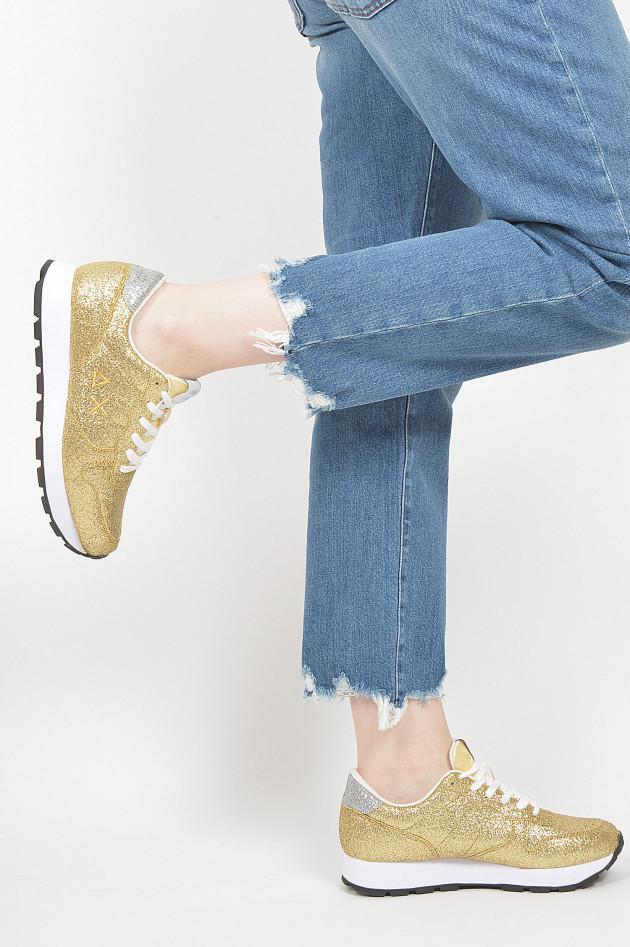 Sun68  Sneaker in Gold glitzer