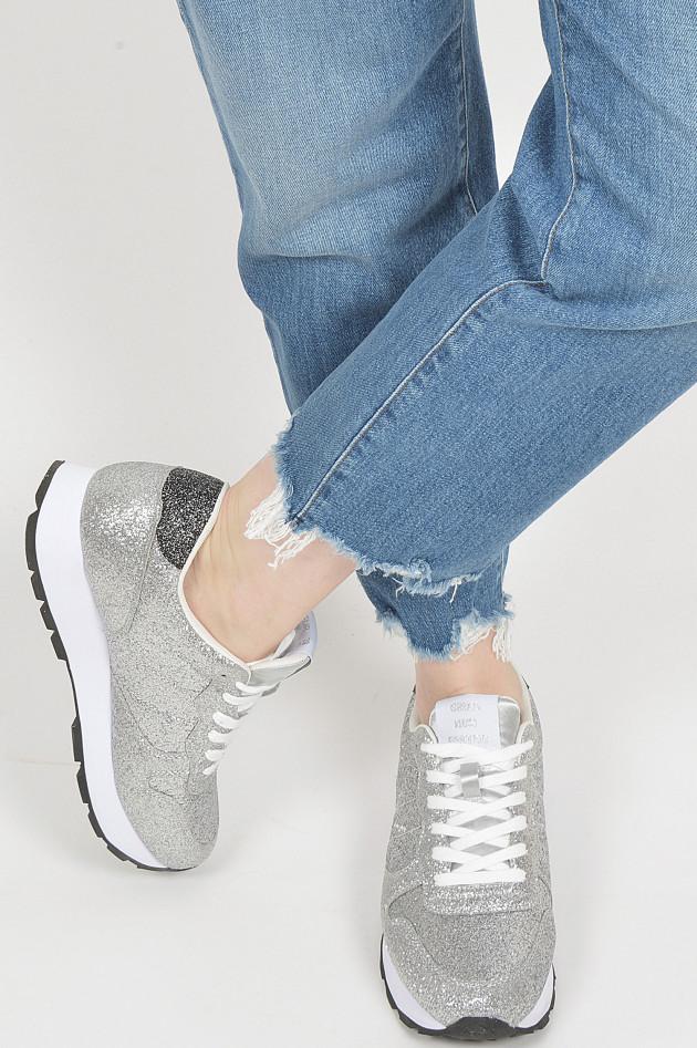 Sun68  Sneaker in Silber glitzer
