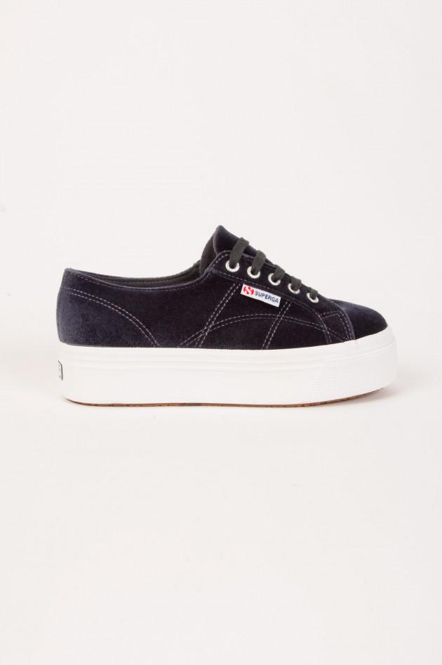 gr ner online shop superga sneaker mit plateausohle in grau. Black Bedroom Furniture Sets. Home Design Ideas