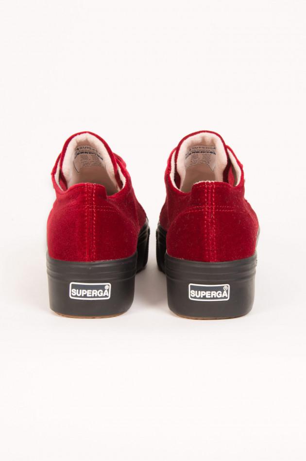 gr ner online shop superga sneaker mit plateausohle in rot. Black Bedroom Furniture Sets. Home Design Ideas