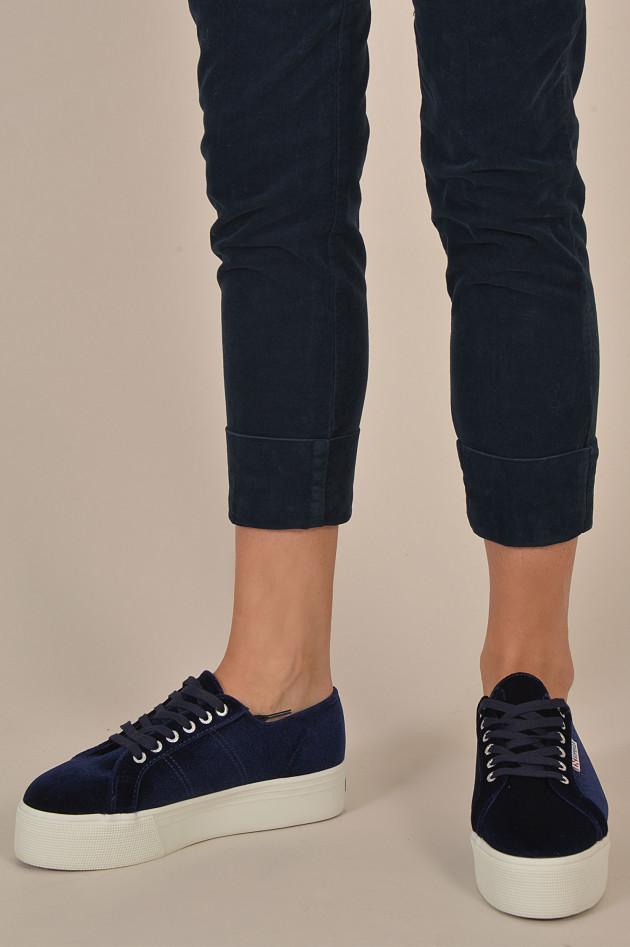 Superga Sneakers mit Samtoptik und