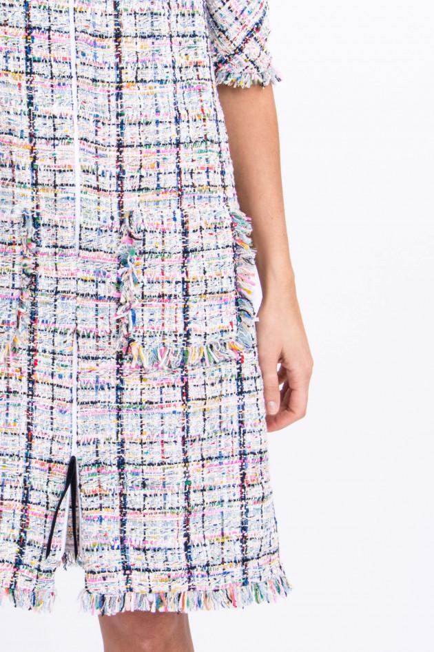 Talbot Runhof Feminines Bouclé-Kleid in Multicolor gemustert