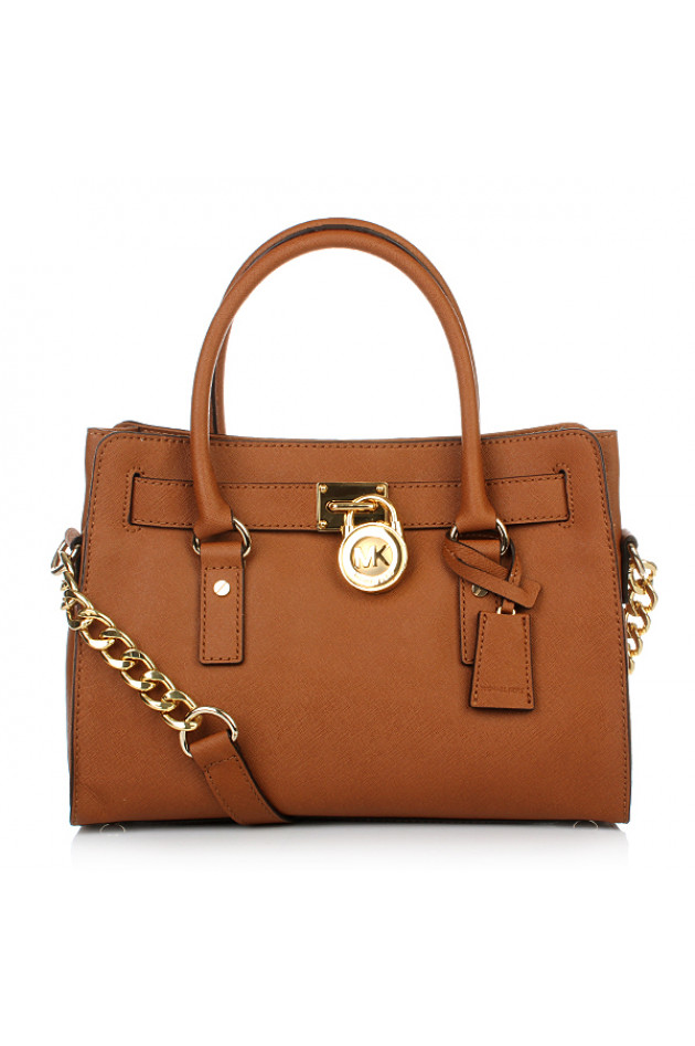 gr ner online shop michael kors tasche hamilton in cognac. Black Bedroom Furniture Sets. Home Design Ideas
