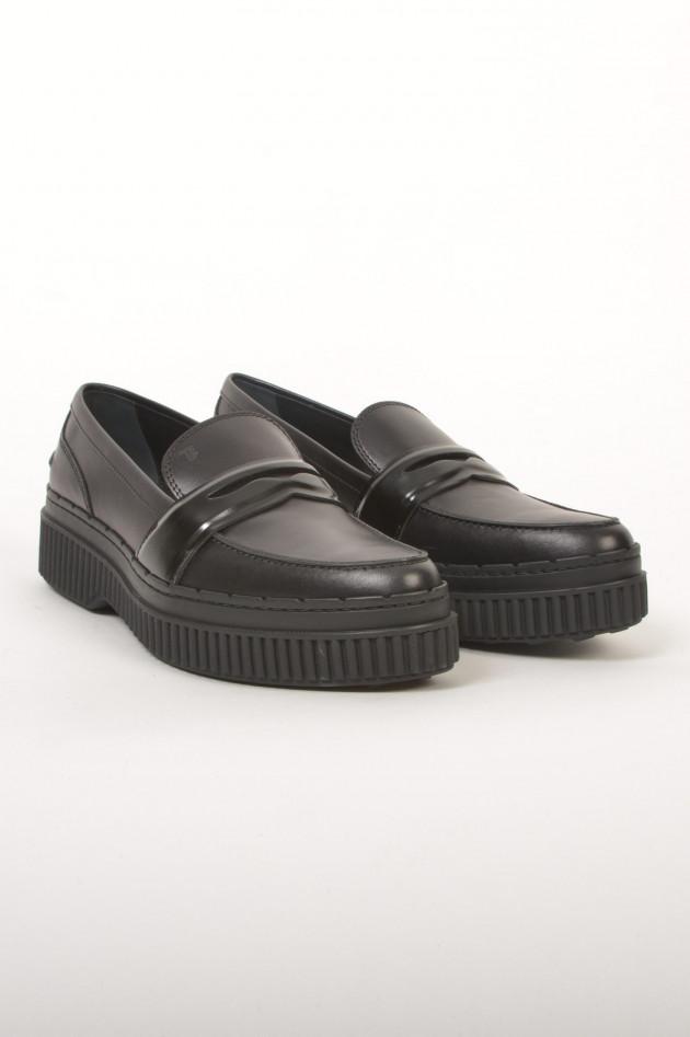 Tod's Loafer aus Leder in Schwarz