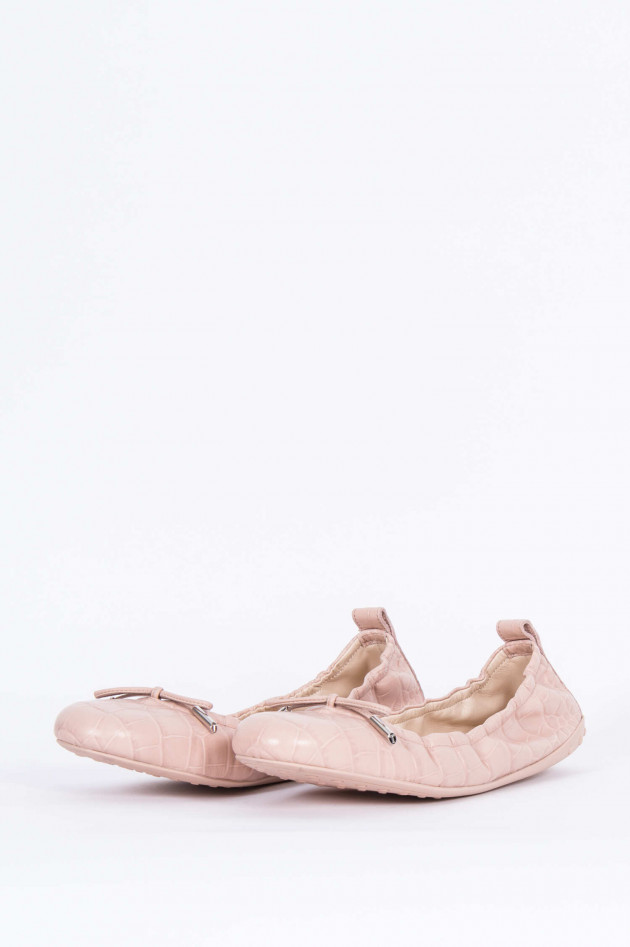 Tod's Ballerina mit Prägung in Rosé