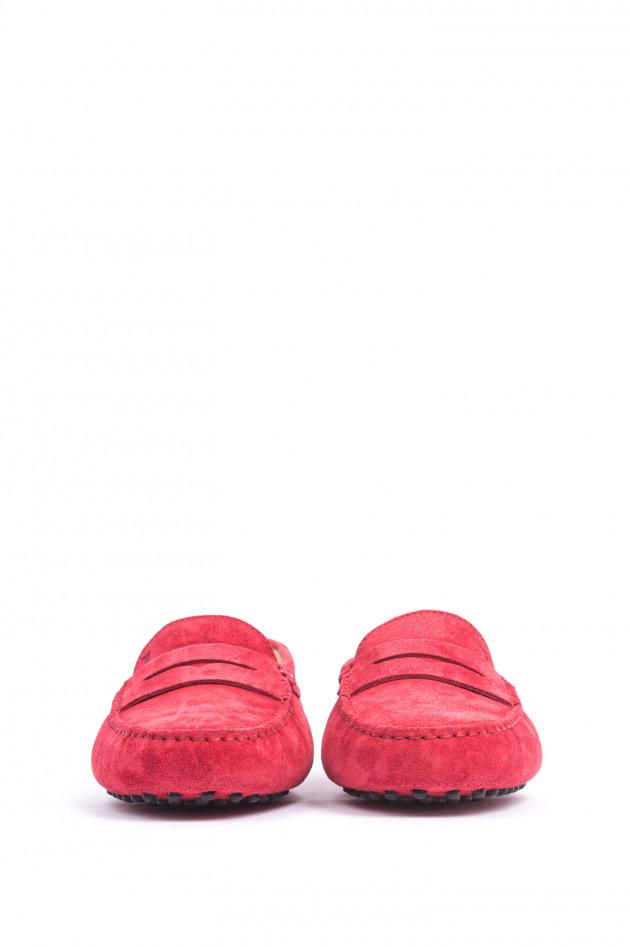 Tod's Mokassins aus Veloursleder in Rot