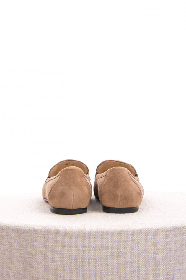 Tod's Veloursleder Loafer in  Cappuccino
