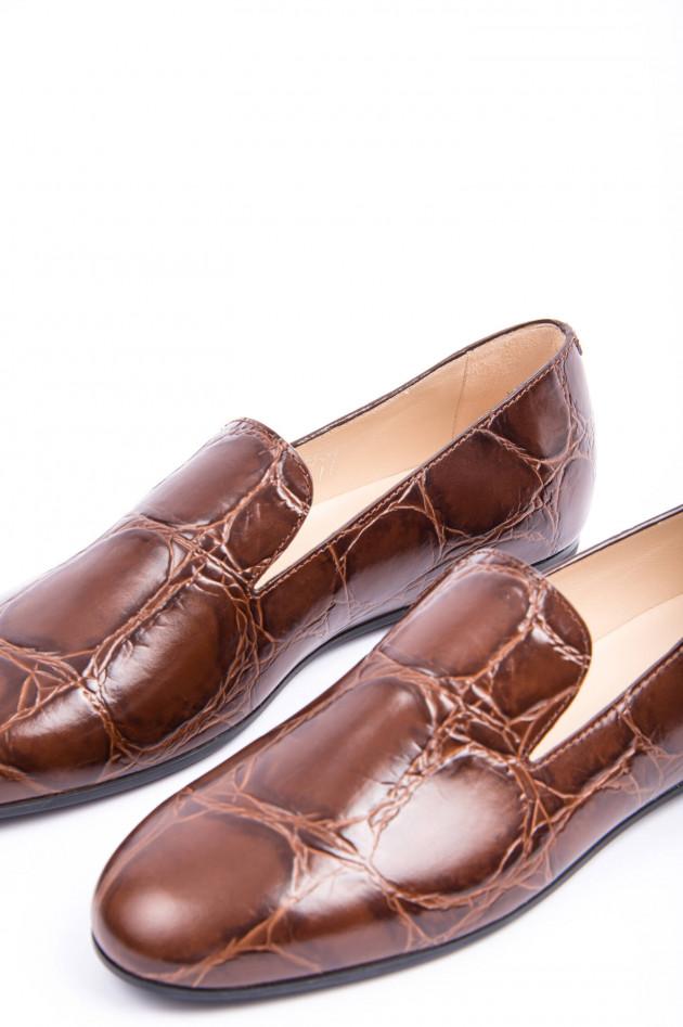 Tod's Loafer aus Leder in Kastanienbraun