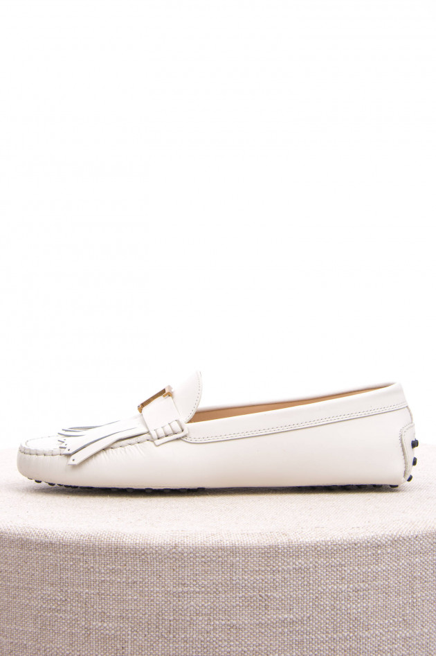 Tod's Mokassins aus Leder in Weiß