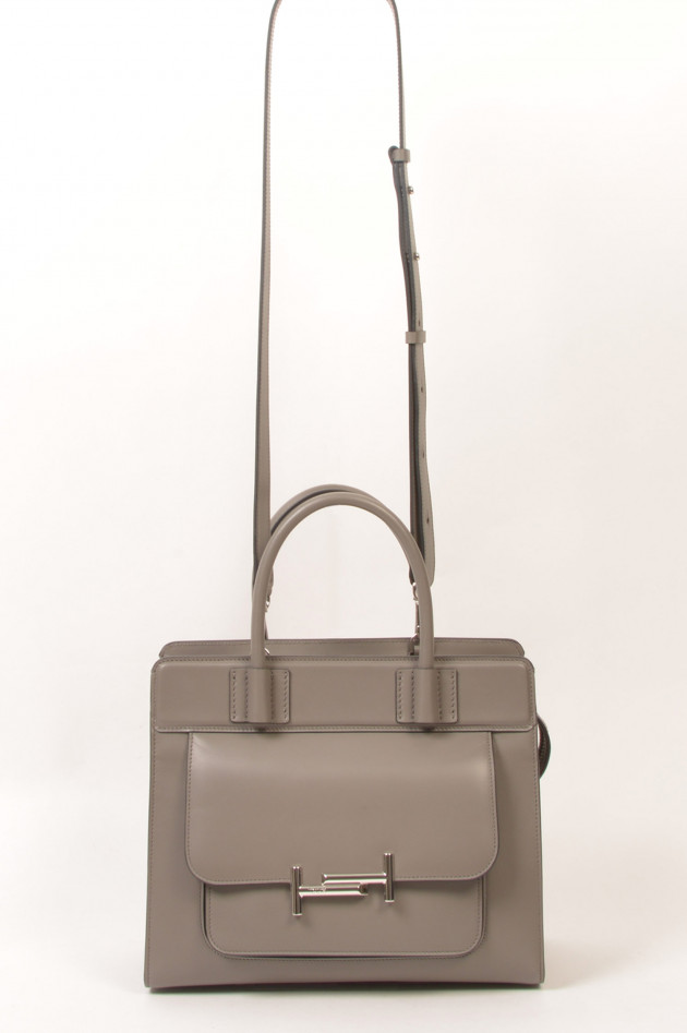 Tod's Shopper Double T in Grau