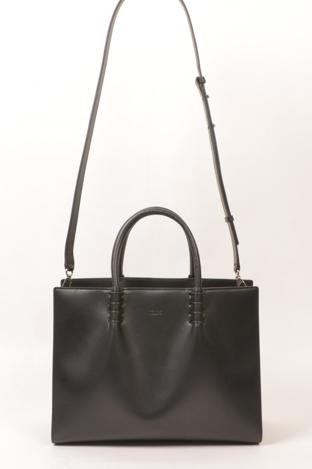 Tod's Tasche SHOPPING BAG MEDIUM aus Leder in Schwarz